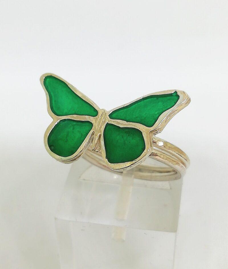 Anillo mariposa resina