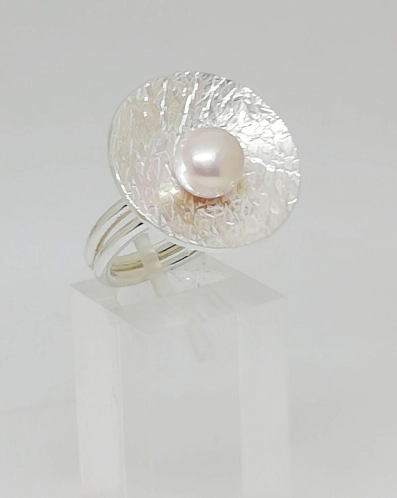 Anillo plata con perla